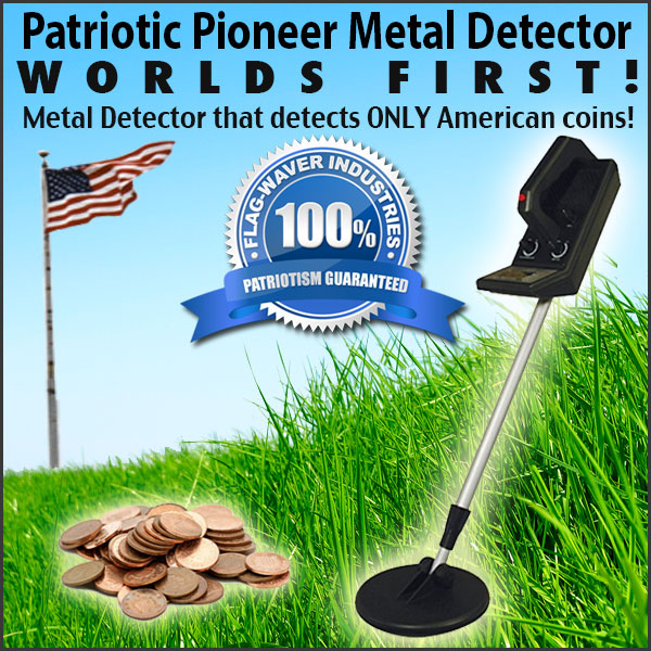 Patriotic Pioneer Metal Detector